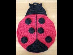 Crochet Manique en forme de Coccinelle facile - YouTube