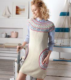 Платье с круглыми карманами - схема вязания спицами. Вяжем Платья на Verena.ru