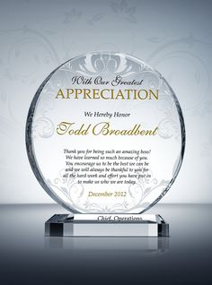 69 Best Appreciation and Thank You Gift Plaques images in ...