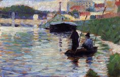 Georges Seurat: The Bridge, View of the Seine; 1882-1883.  Metropolitan Museum of Art, New York, USA.13055154_1002144319840082_2980846453649828009_o.jpg (1101×707)