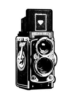 Vintage Camera Illustration Fine Art Print by UnfoldingCreative Source by asherbear Camera Sketches, Camera Drawing, Camera Art, Retro Camera, Old Cameras, Vintage Cameras, Photography Camera, Art Photography, Camera Illustration