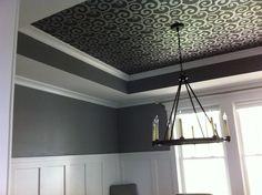 Wallpaper on Dining Room Ceiling of Kelsea Model