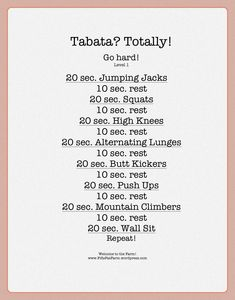 I've done Tabata work outs before and it KILLS but it works