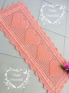 Crochet Baby Blanket / Baby Pink and White Blanket /Open Weave Lace / Shower Gift / Newborn Prop / Crochet Butterfly, Crochet Flower Patterns, Bad Set, Crochet Stocking, Crochet Gifts, Step By Step Crochet, Crochet Table Runner, Half Double Crochet, Filet Crochet