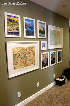 Calendar Wall Art DIY. Using a WPA National Park Poster calendar for an awesome gallery wall.