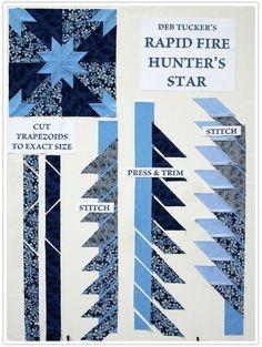 hunter's star quilt pattern tutorial | Rapid Fire Hunters Star Ruler – 7 Easy Steps