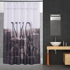 New York Scenery 3D Modern Shower Curtain Waterproof Fabric Curtain For The Bathroom Polyester Bath Screen Shower Room Product
