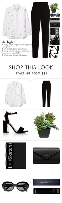 """""Coconut, coconut Sharks In The Water"" by Twenty One Pilots. Excuse me, this name does not bear absolutely no semantic load, as the rest of the names of my sets. Just know that this bow I created for this song♥♥♥"" by holly-k15 ❤ liked on Polyvore featuring Oxford, The Row, Sam Edelman, Balenciaga, Acne Studios and Sloane Stationery"