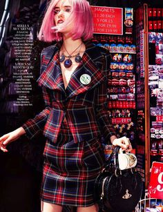 grace hartzel by naomi yang for madame figaro. that pink hair <3