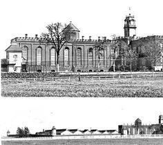 The Oregon State Penitentiary in Salem, Oregon, as seen in the 1880s :: Ben Maxwell Collection