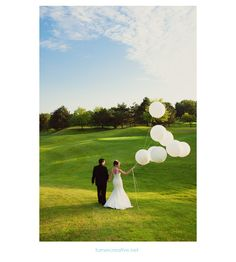 wedding balloons. Balloons along chairs for ceremony? (couldn't find a pic of my thought yet)