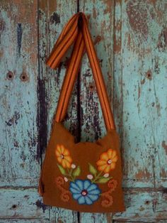 Boho Messenger Bag hand embroidered and dyed. with just the right amount of real crystals for that bling you want! From RockinBohemian.com