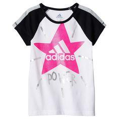 "Toddler Girl Adidas Star Logo ""Power"" Tee, Size: 3T, White Oth"