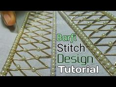 To this video you will learn Zardosi Barfi stitch design of aari work. ○○●●WELCOME to SHAKEEL FYM●●○○ in This video i m going to show you Barfi design stitch. Tambour Embroidery, Hand Work Embroidery, Embroidery Motifs, Embroidery Fashion, Machine Embroidery Designs, Zardosi Work Design, Christmas Embroidery Patterns, Stitch Design, Sewing Techniques