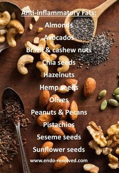 Adding healthy anti-inflammatory fats to your diet will help symptoms of 1200 Calorie Diet, 1200 Calories, Diet And Nutrition, Health Diet, Endometriosis Diet, Pcos, Endo Diet, Good Fats