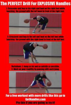 The Perfect Drill For Explosive Handles  #basketball #ballislife