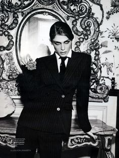 Elisa Sednaoui for Vogue Russia December 2010 by Ellen von Unwerth (o pinned with @PinvolveLove