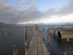 2015 Central America (62) Lago de Atitlán - San Pedro La Laguna - fishing dock and submerged buildings