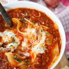 Lasagne-Suppe-Rezept