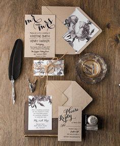 Botanische Hochzeitseinladungen 20 rustikale von forlovepolkadots