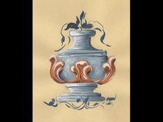 Die Bauernrose Alt, Bauernmalerei - Dekoratives Malen Malkurs - YouTube