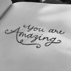 *you are amazing* handlettering Calligraphy Letters, Typography Letters, Typography Design, Inspiration Typographie, Typography Inspiration, Smash Book, Art Postal, You Are Amazing, Penmanship