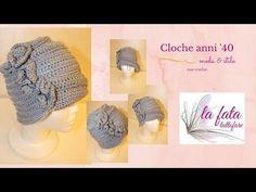 Tutorial: cloche anni '40 - YouTube Freeform Crochet, Crochet Hats, Photo Pattern, Hat Tutorial, Felt Hat, Crochet Accessories, Beret, Youtube, Projects To Try