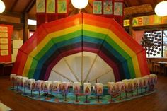 Rainbow Display, classroom Display, class display, rainbow, weather, rain, rain drop, colours, Early Years (EYFS), KS1 & KS2 Primary Teaching Resources