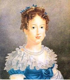 Dona Maria Leopoldina de Áustria (Viena, 1797- Rio de Janeiro,  1826) Primeira Imperatriz-consorte do Brasil, esposa de D. Pedro I Rai...