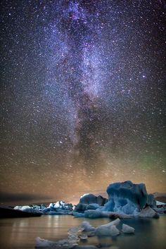 Milkyway at Jökulsárlón