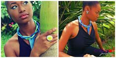 Colour Riot Jewelry  Yemoya Necklace (Blue) $145 Delta-mini Stud Earrings $75 Masai Inspired Ring $55
