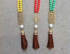 DIY tassel necklace.