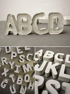 Letras de cemento
