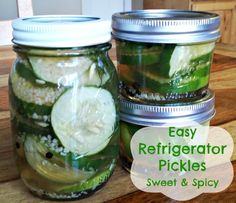 Easy Refrigerator Pickles Recipe at Mom Always Finds Out.
