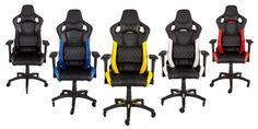 Corsair T1 Race chair bolsters gamers in their most intense ...  A few years ago, Corsair was inside our computers. Then the company's products spilled onto our desks. Now, like a black, red, and yellow virus, Corsair's on ... #gamers
