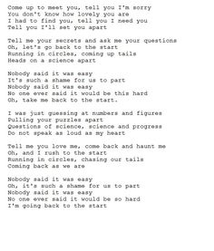 Coldplay ~ The Scientist
