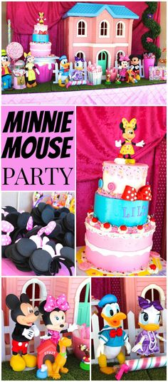 What a sweet Minnie Mouse in Candyland 1st birthday party! See more party ideas at CatchMyParty.com!