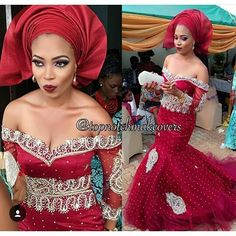 Bride Chinny at her traditional wedding! Nigerian Wedding Dress, Nigerian Bride, African Wedding Dress, Nigerian Weddings, African Weddings, African Dresses For Women, African Attire, African Fashion Dresses, African Women