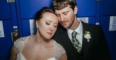 Matt Shumate Photography at Schweitzer Mountain Resort wedding bride and groom portrait by lockers
