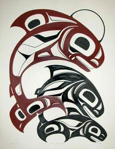 Native Symbols, Native American Symbols, Native American Artists, Native Art, Haida Kunst, Haida Art, Indian Artwork, Art Carved, Canadian Art