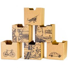 Cubby bins!  Car, bike, and airplane designs for kids.  Works great with Sprout's cubby shelves.  $36