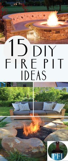 Firepits are one of my favorite parts of summer. You can even make your own firepit. Here are 15 of my favorite backyard firepits you can complete yourself! Diy Fire Pit, Fire Pit Backyard, Backyard Patio, Backyard Projects, Outdoor Projects, Outdoor Fire, Outdoor Living, Photography Beach, Modern Fire Pit