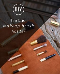Check these DIY makeup organizer/storage ideas that are insanely clever, creative and cost-efficient! Are you looking for the best DIY makeup organizer? Diy Makeup Organizer, Makeup Storage Organization, Storage Ideas, Makeup Brush Holders, Leather Projects, Diy Accessories, Couture, Homemade Gifts, Makeup Brushes