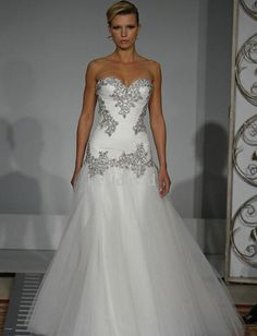 bling sweetheart wedding dresses