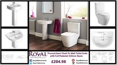 Hurry up to buy Provost Semi Flush to Wall Toilet Suite with Full Pedestal Basin which defines the uniqueness and classic look of your bathroom.