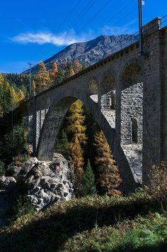 Viaduct in Cinuos-chel Rio, Bridge, Places To Visit, Explore, Bridges, Bridge Pattern, Attic