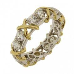 XXX ring, guldpläterat X, 0,25ct diamantsimulanter