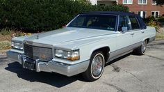 1990 Cadillac Brougham (The Fleetwood name was transferred to front-drive Cadillacs in 1987)