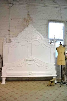 Painted Cottage Chic Shabby French Bed BD21 by paintedcottages
