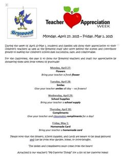 teacher appreciation letter need an idea for a appreciation week flyer 25032